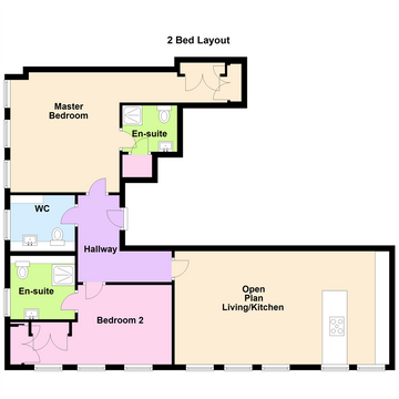 2 Bed Layout