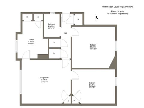 Floorplan - 11 Hill Garden Coupar Angus Ph139Ax