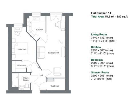 Apartment 14 Floor Plan