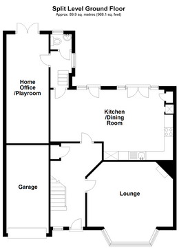 Split Level Ground Floor Plan