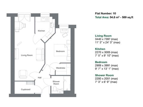 Apartment 10 Floor Plan