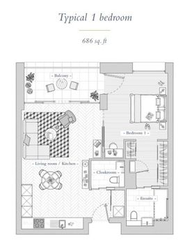 One Bedroom Floorplan.Jpg
