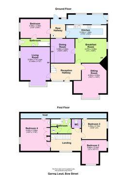 Garreg Lwyd, Bow Street Floor Plan.Jpg