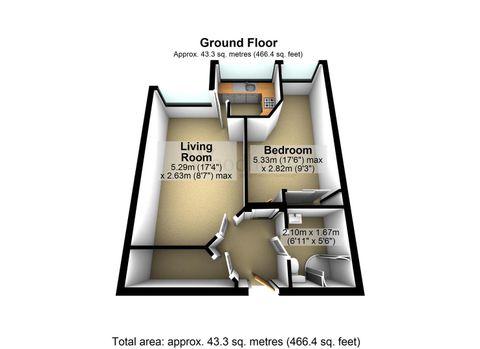One Bedrooom Floorplan.Jpg