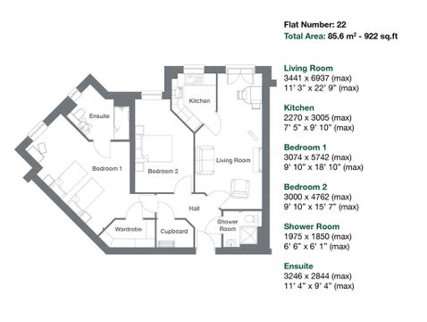 Apartment 22 Floor Plan
