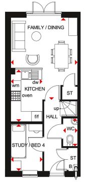 Floor Plan Of The Kingsville House Type At Ladden Garden Village, Yate.