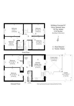Hilldrop Crescent, London, N7 0Hx - Floorplan