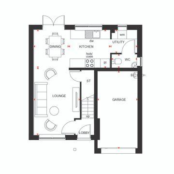 Ground Floor Plan Of The Denby