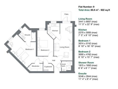 Apartment 9 Floor Plan