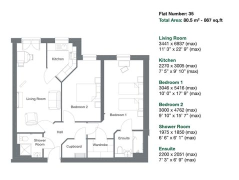 Apartment 35 Floor Plan