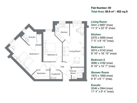 Apartment 50 Floor Plan