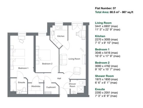 Apartment 37 Floor Plan
