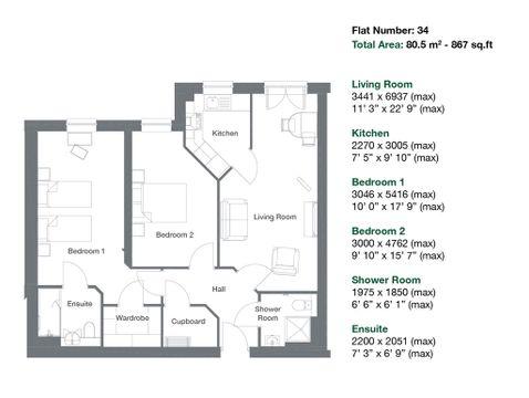 Apartment 34 Floor Plan