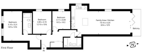 Apartment 4 - Floor Plan