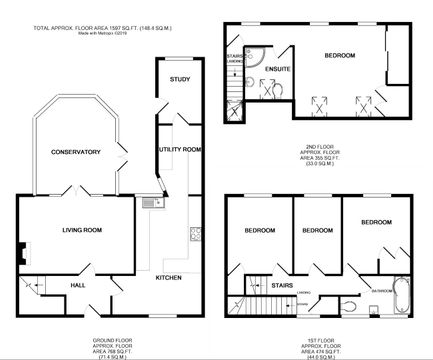 6 Rosemary Crescent Dunmow Floorplan.Jpg